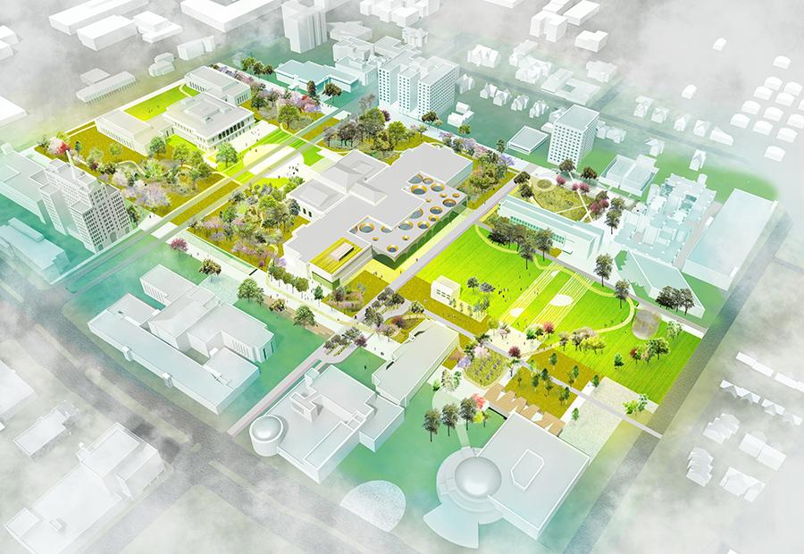 detroit DIA Plaza plan