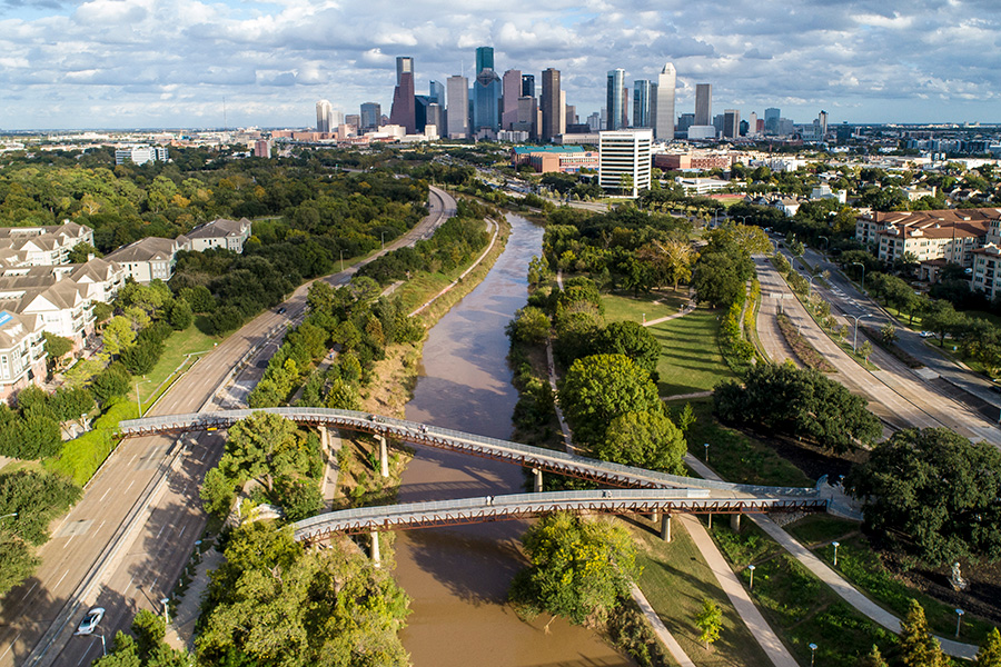 01 Buffalo Bayou Park Connects Downtown Houston And Neighborhoods With Resilient Green Space Recreational Amenities And Bike Trails David Lloyd|Bidenpodiumdemnationalcommittee|02 Cyclists Explore Buffalo Bayou Park And Its Many Recreational Amenities David Lloyd