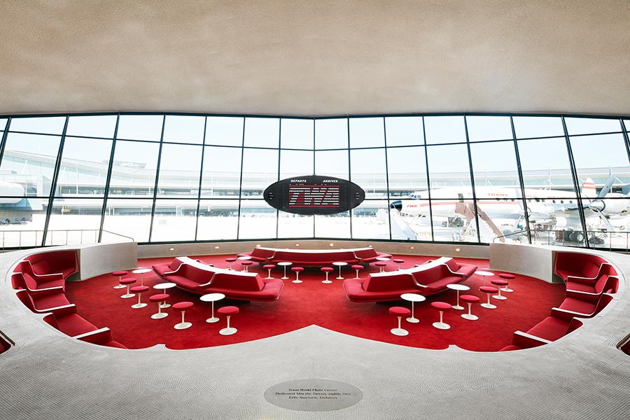 TWA flight center hotel interiors