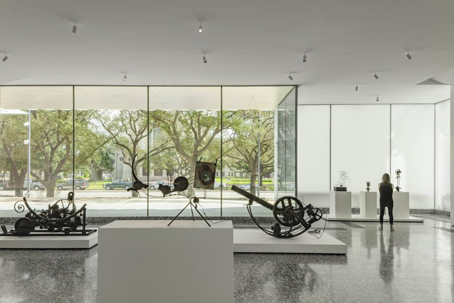 10. The Nancy And Rich Kinder Building At The Museum Of Fine Arts, Houston, Street Level Gallery With Works By Jean Tinguely.