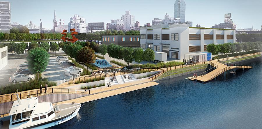 Perkins Will riverkeeper flushing newtown urban plan