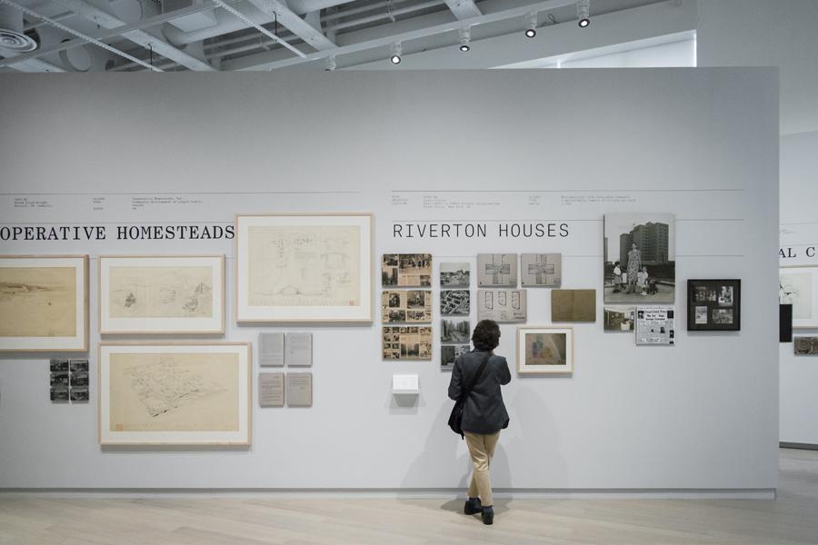 Frank Lloyd Wright Harlem Housing exhibit