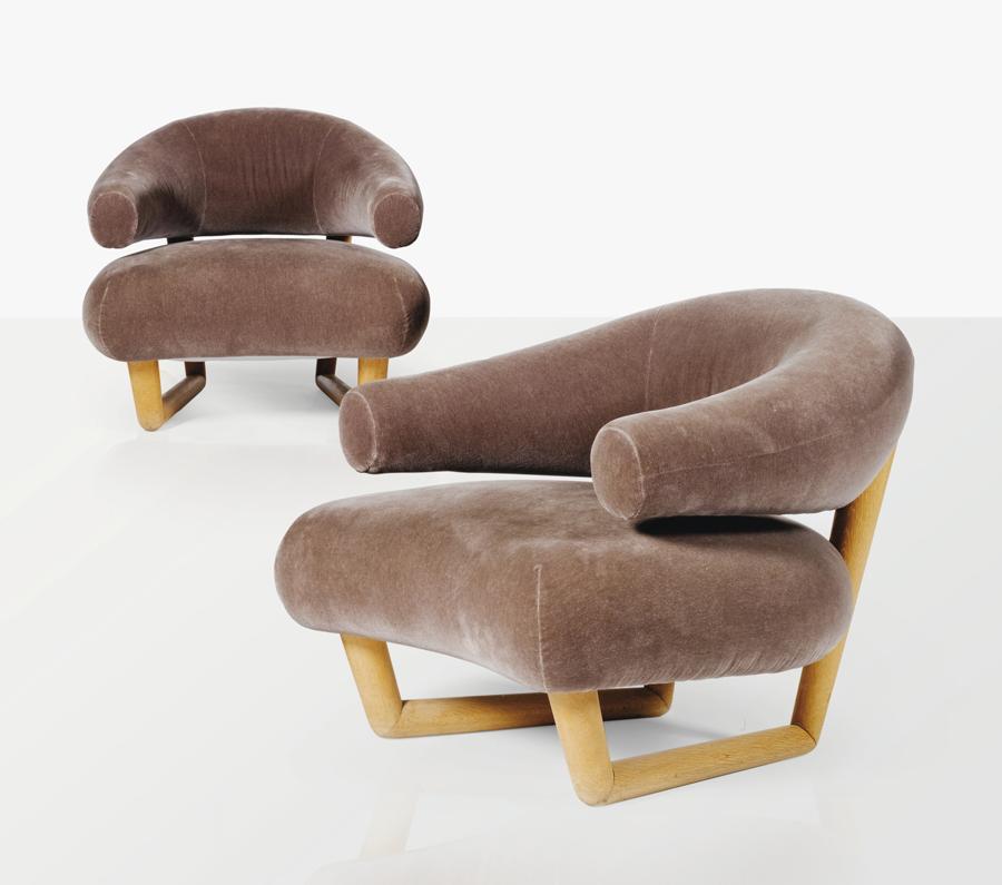 Jean Royère's Paire de fauteuils sculpture