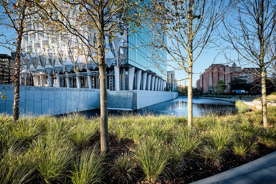 London US embassy landscape design