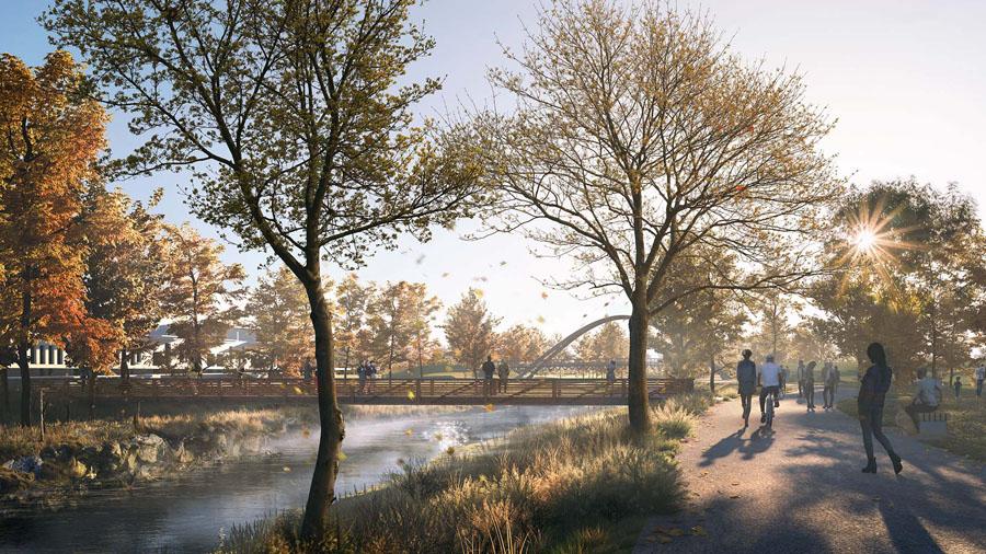 6 Unity Park Pedestrian Bridge Rendering By Mksk Studios