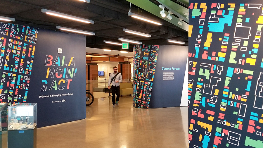 Balancing Act Urbanism Emerging Technologies exhibition