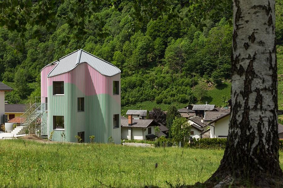 Daniel Buren Davide Macullo house