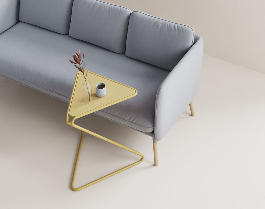 Hightower Ziggy Table With Hightower Arlo Sofa