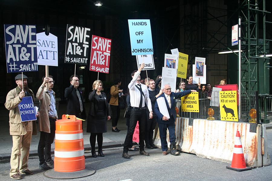 ATT renovation protest
