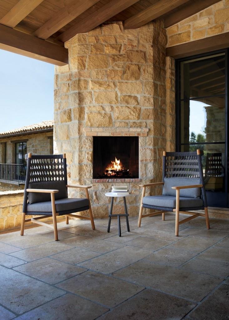 Janus Et Cie Anatra Teak High Back Lounge Chair 01