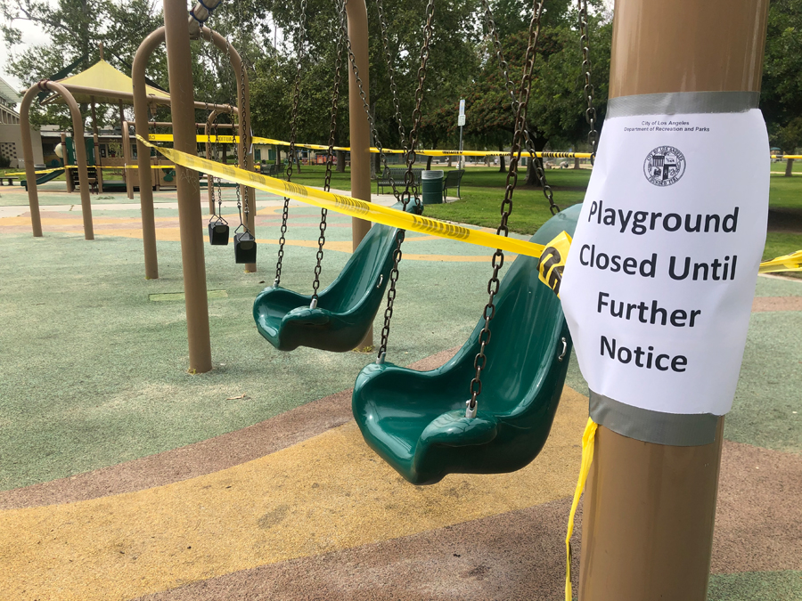 Los Angeles Playground Closed Due To Covid 19