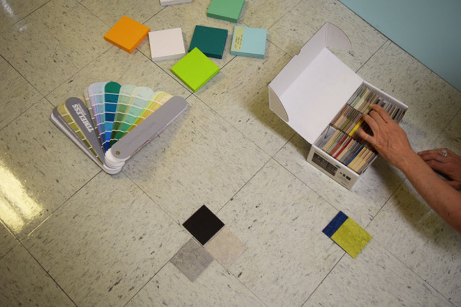 Phml Color And Material Swatches For Nycha East Tremont Child Care Center, The Bronx, New York 2016