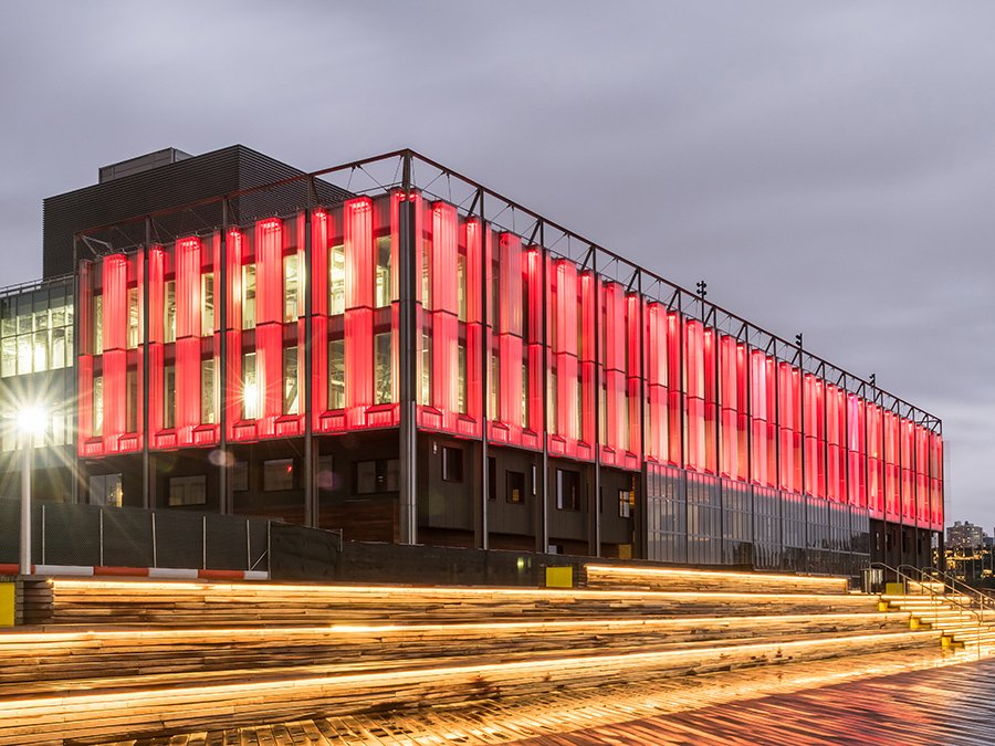 shop architects pier 17 glass facade