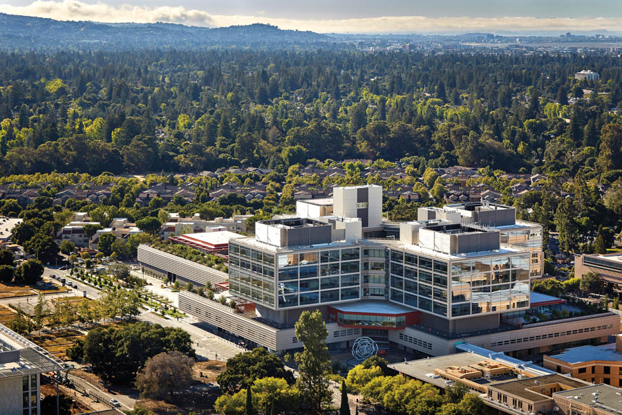 Stanford University Mc New Stanford Hospital Ext Aerial Se Facade 2 Copyright Will Pryce