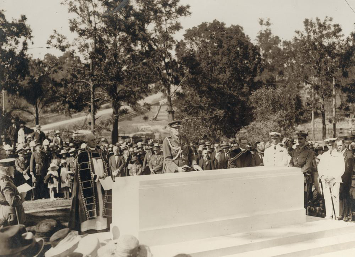 Stone Of Remembrance 1924 Public Domaincourtesy John Oxley Library, State Library Of Queensland