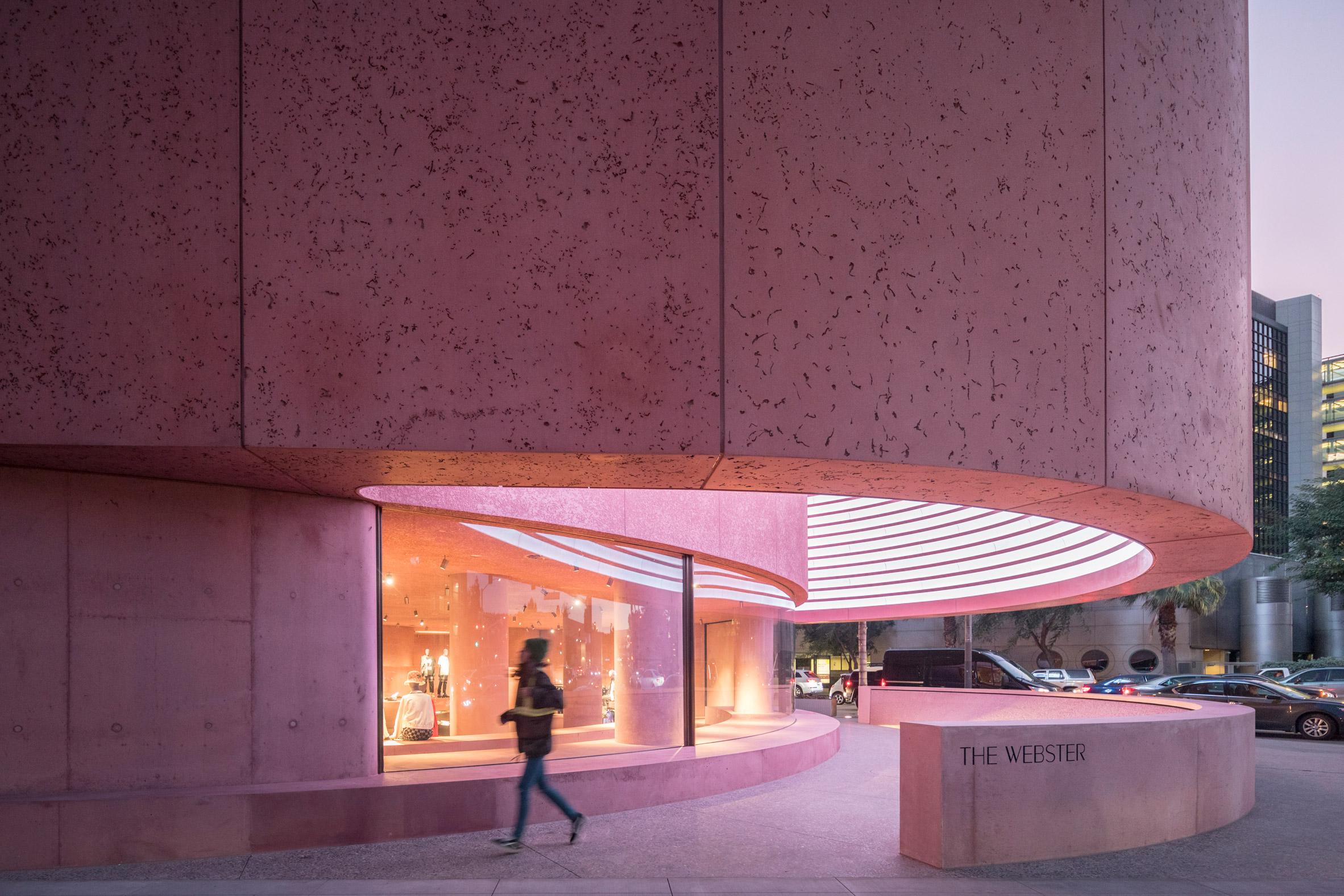 David Adjaye Pink Lighting