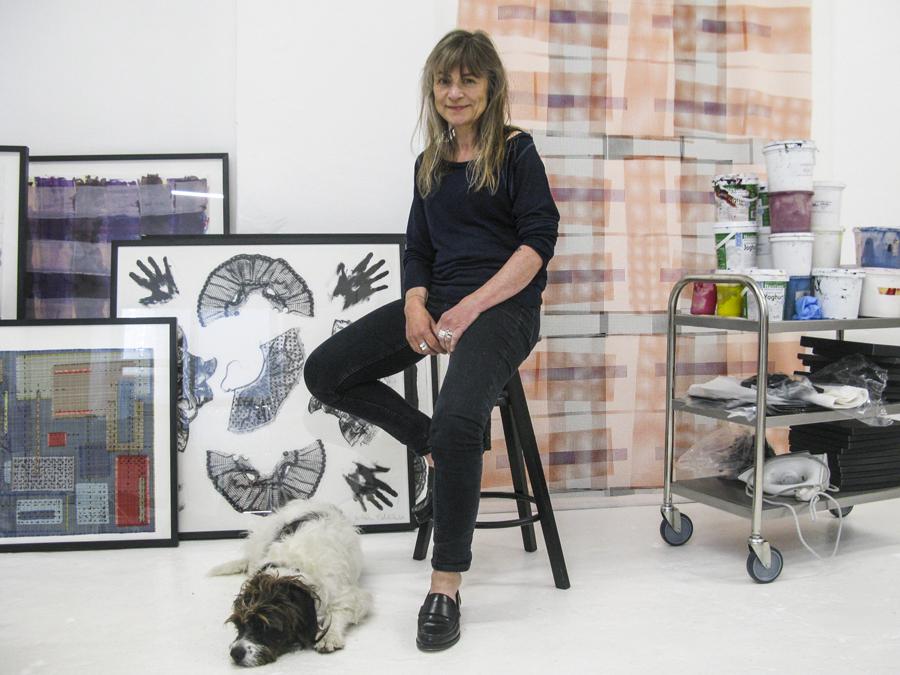 Designer Vibeke Rohland in her studio