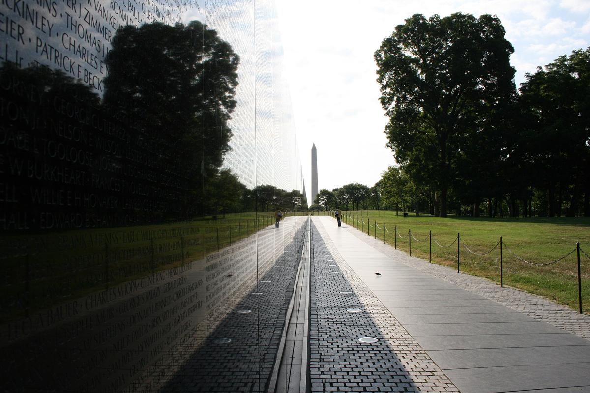 Vietnam Veterans Memorial Reflection Public Domain Creative Commons