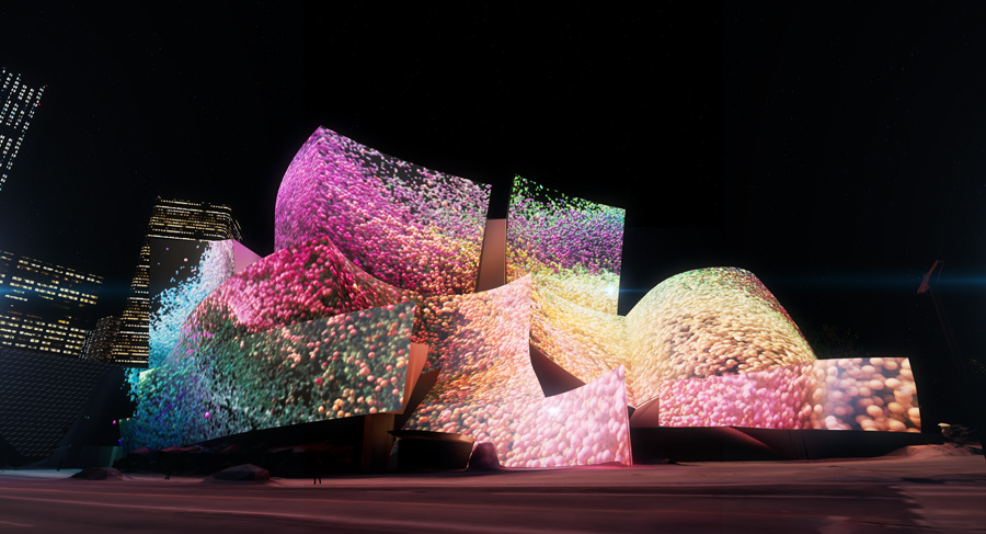 Disney Concert Hall Projections