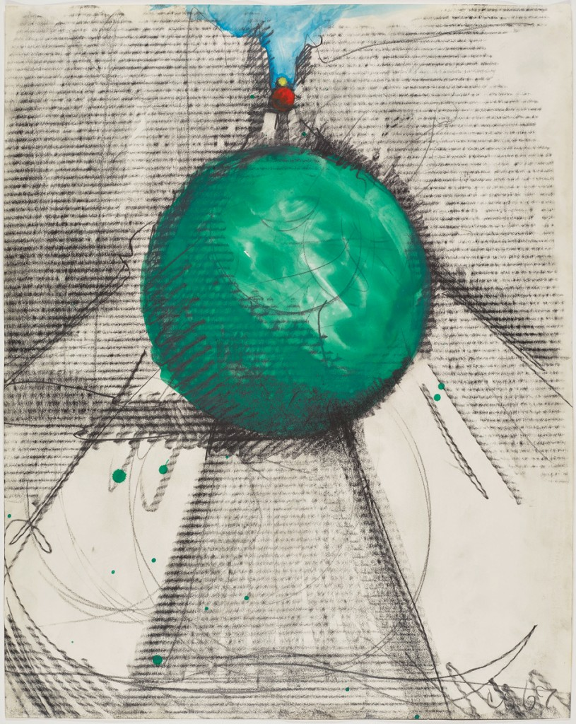 Claes Oldenburg Proposed Colossal Monument For Park Avenue New York Bowling Balls 1967