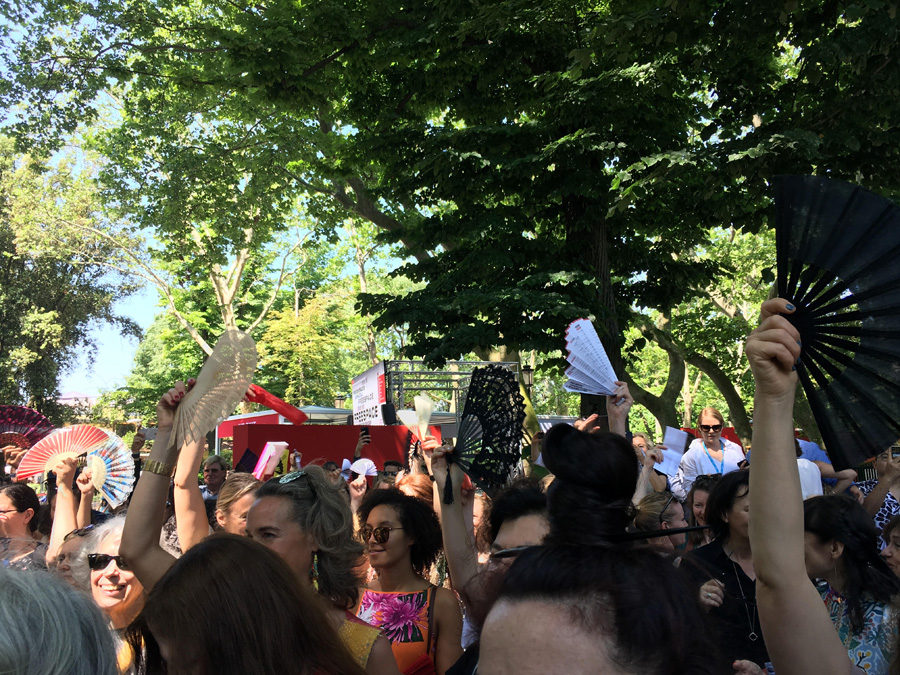 Women Protest Venice Architecture Biennale
