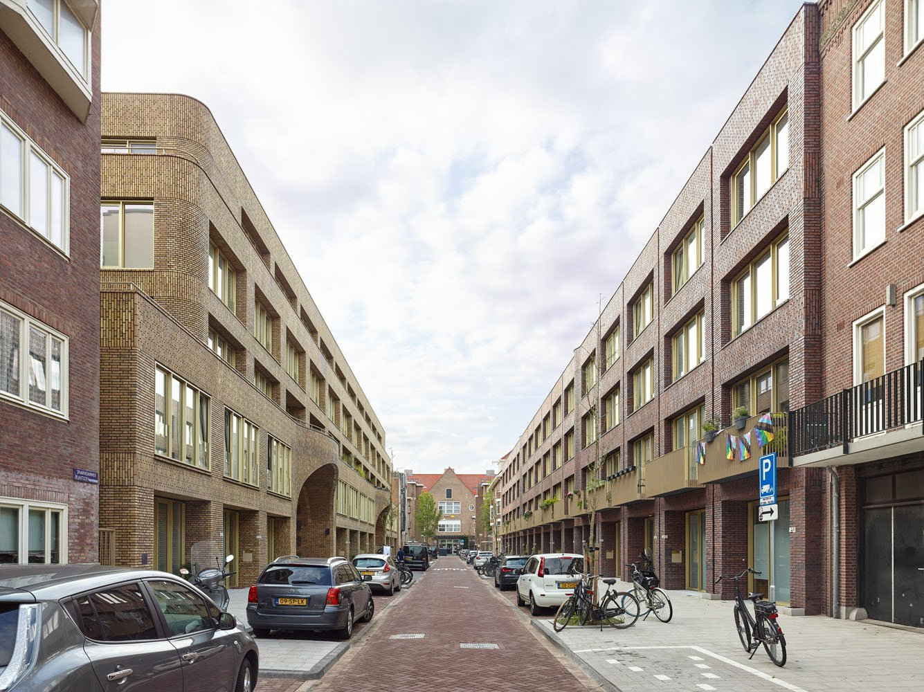 the street view of the project