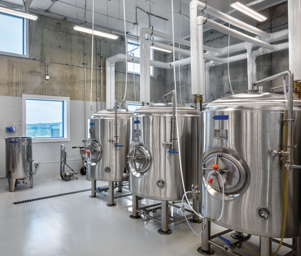 Cidery fermentation vats