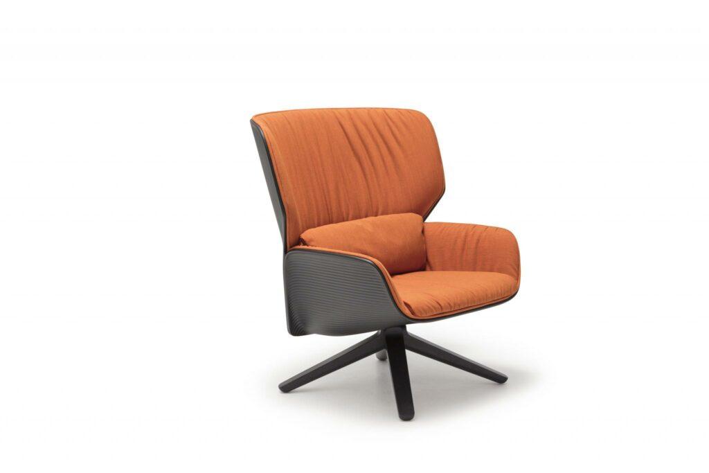 An orange armchair