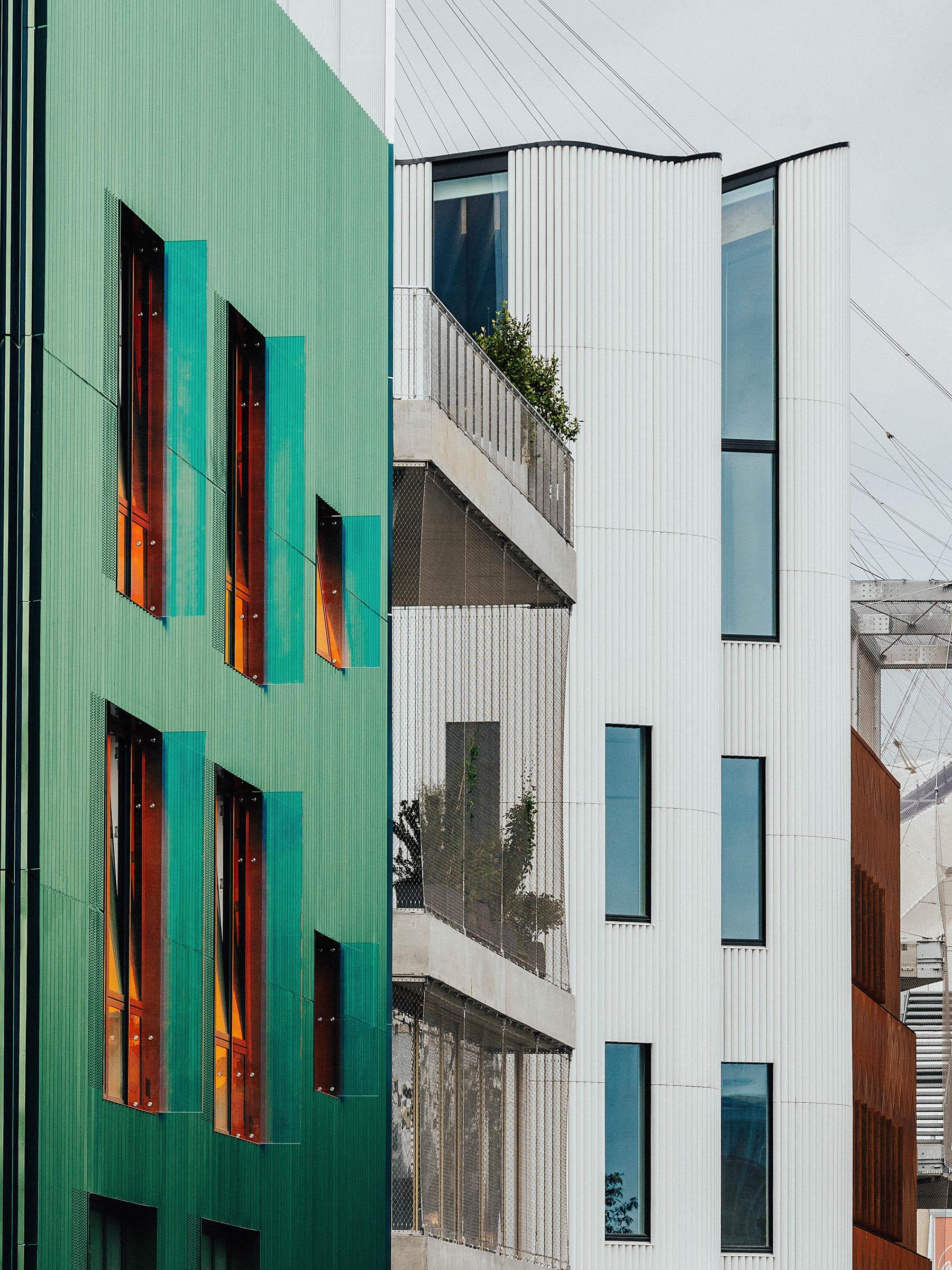 several building elevations