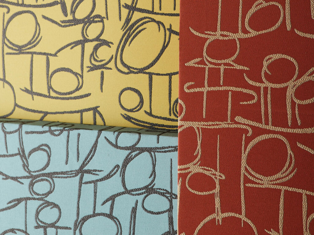 The Duality textile collection features traditional West African motifs in three patterns.