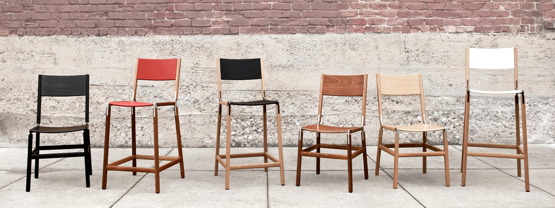 a row of chairs from the brand Fyrn