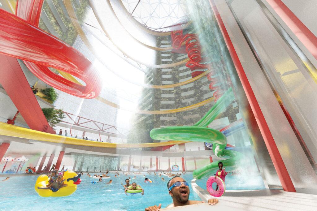 Public pool rendering