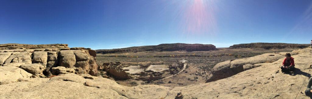 View of historic pueblo village