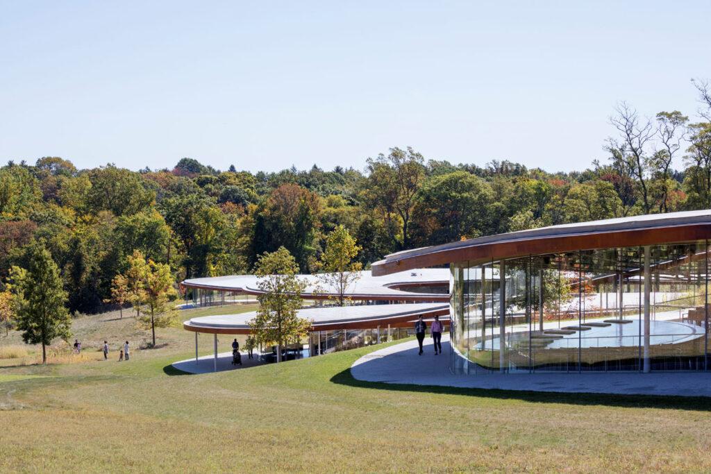 The SAANA-designed Grace Farms building