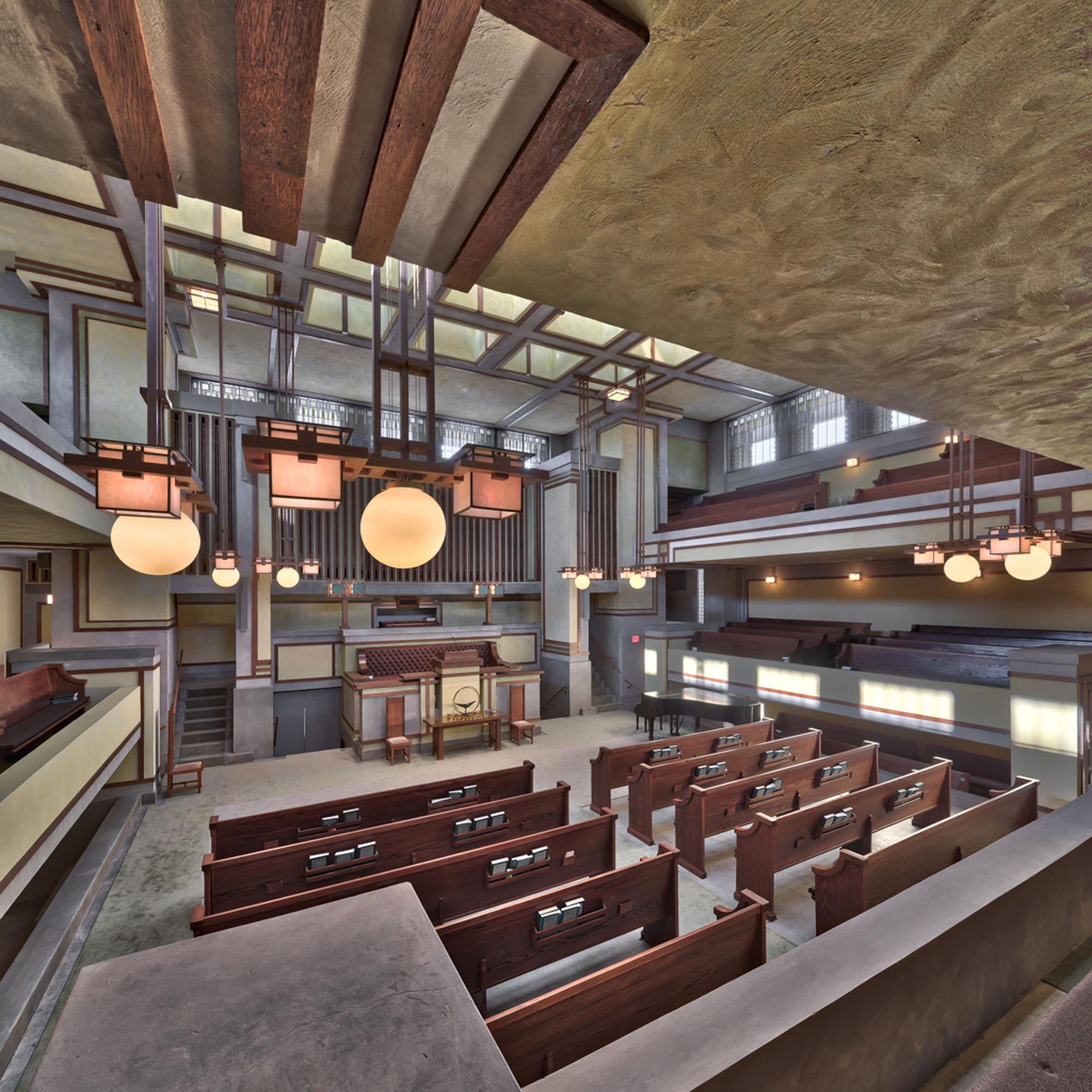 a temple interior