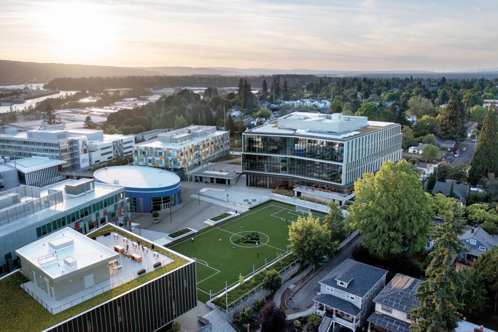 campus aerial view.