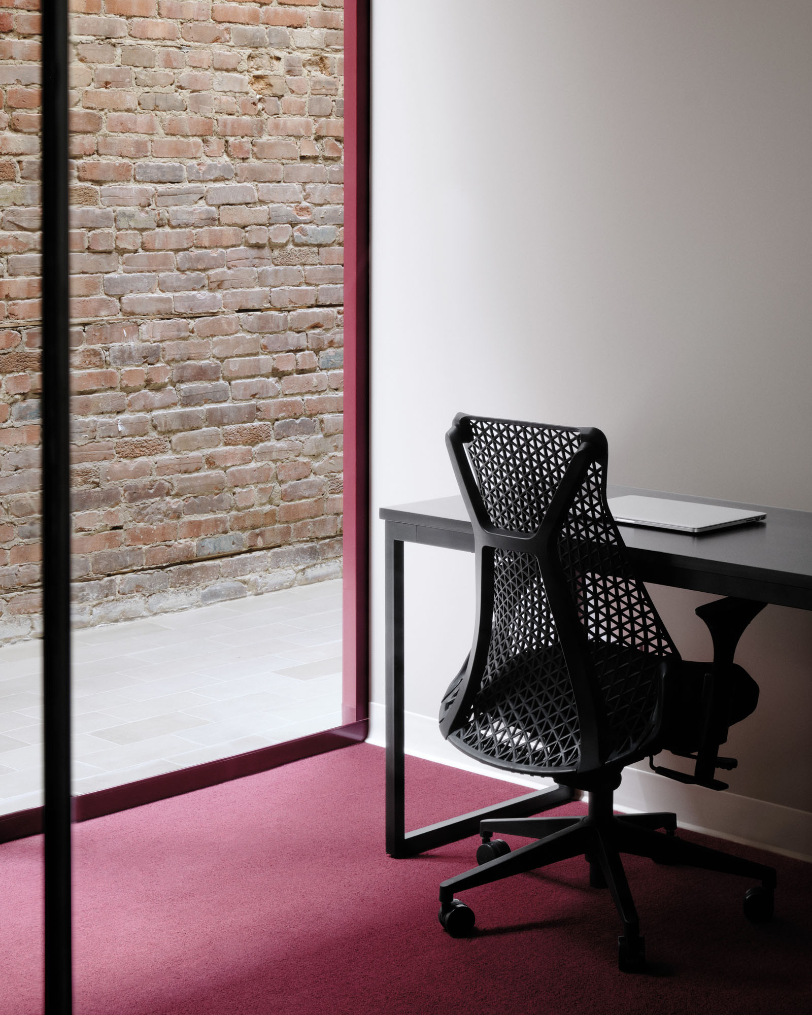 Work area interior