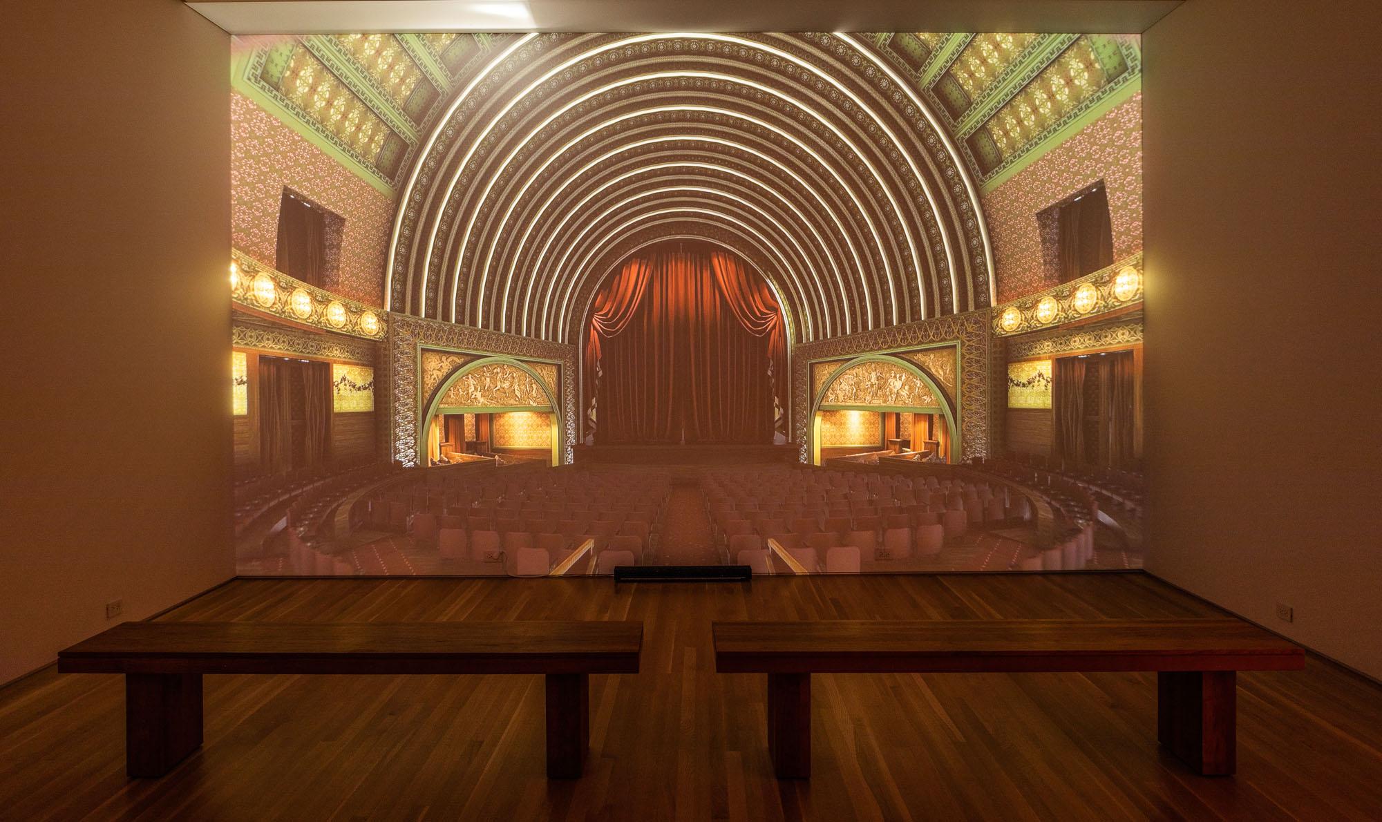 Interior Garrick Theater projection