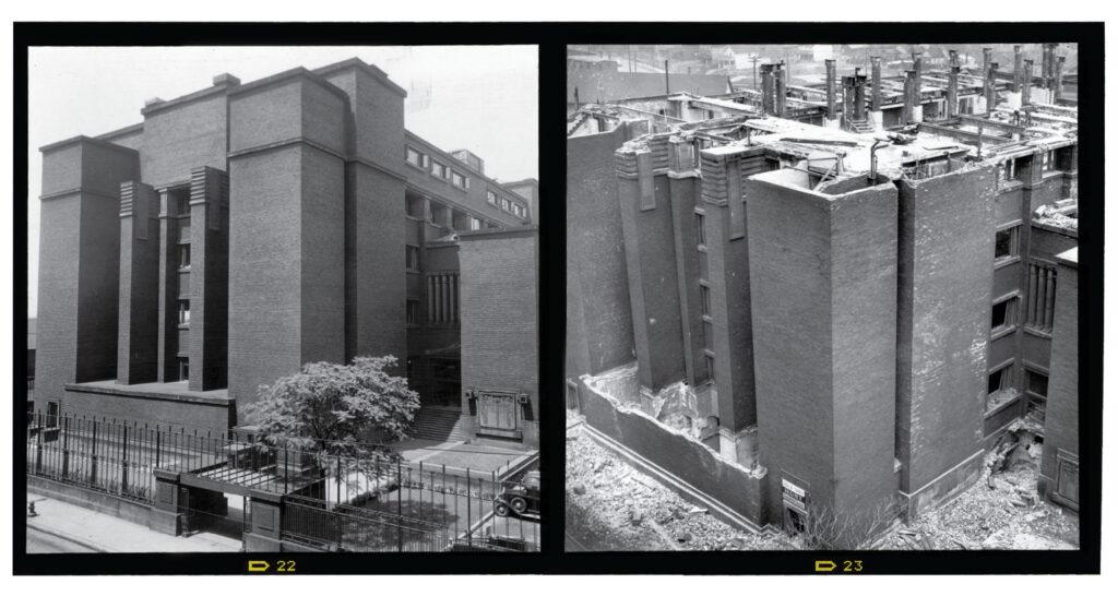 Larkin building before and after demoltion