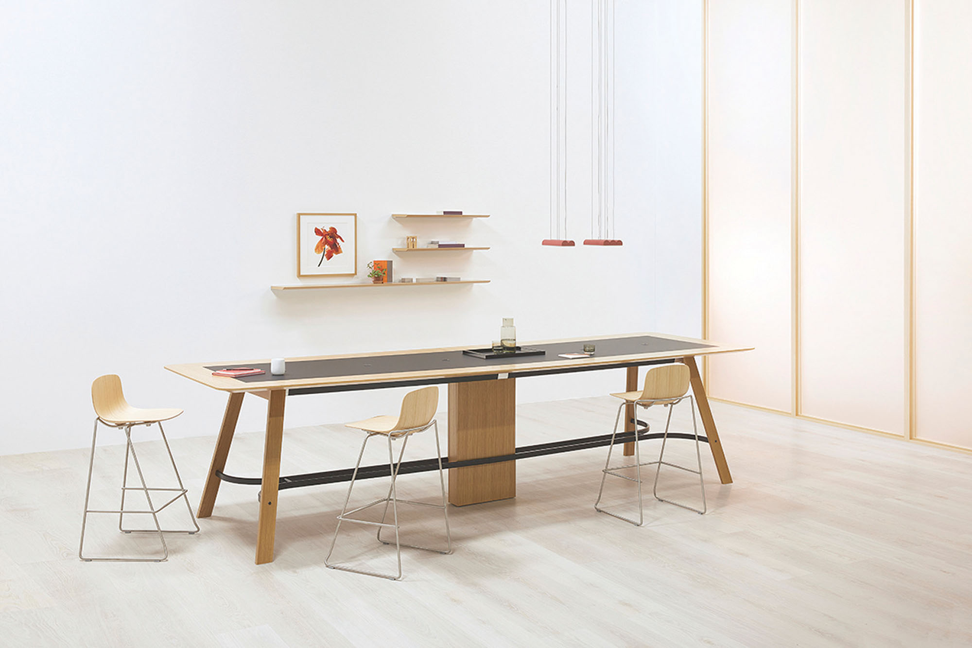 a conference table